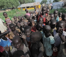 Children living in South Sudan.  Photo courtesy of Tyson Sadler.